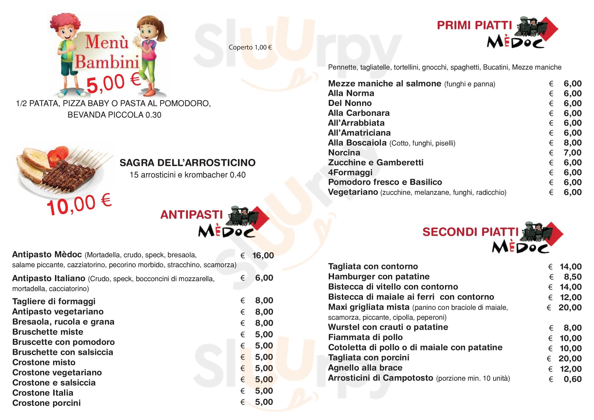 Medoc San Benedetto Del Tronto menù 1 pagina