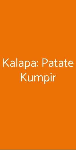 Kalapa: Patate Kumpir, Fano