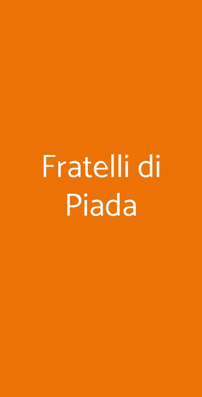 Fratelli di Piada Torino menù 1 pagina