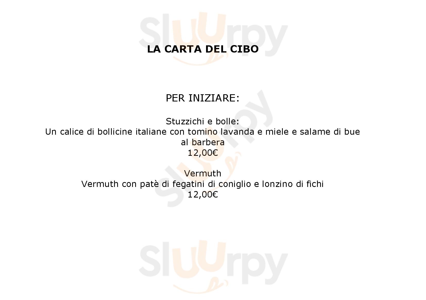 Contesto Alimentare Torino menù 1 pagina