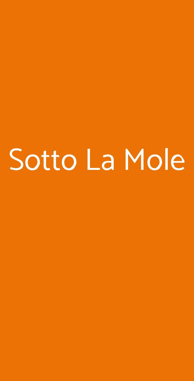 Sotto La Mole Torino menù 1 pagina