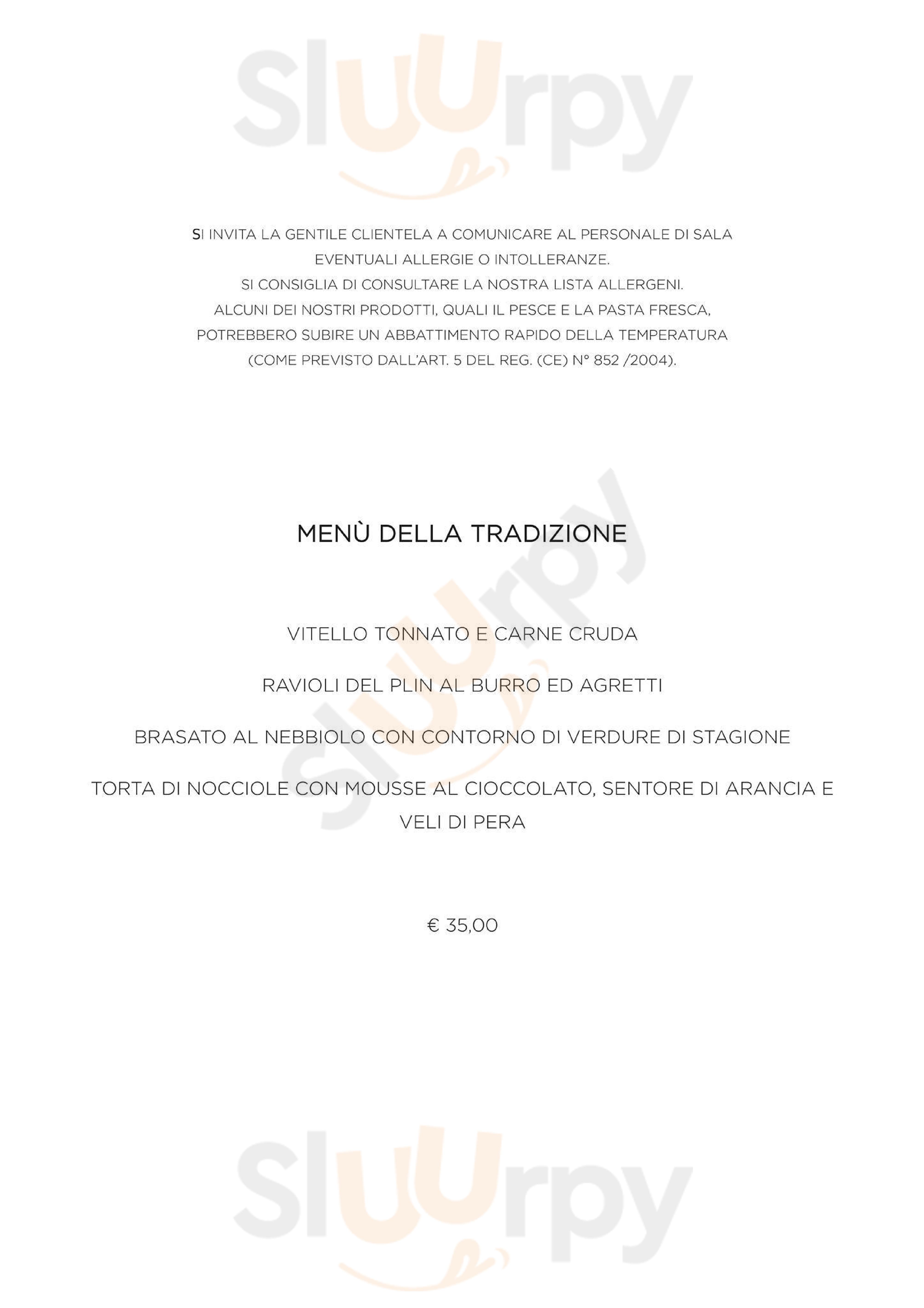 Museum Hostaria Alba menù 1 pagina