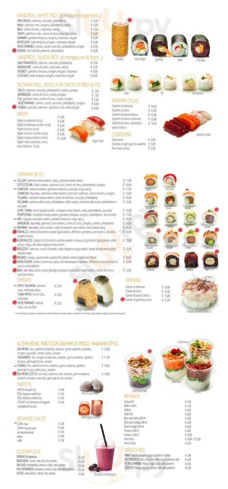 Menu Blackfish Sushi & More
