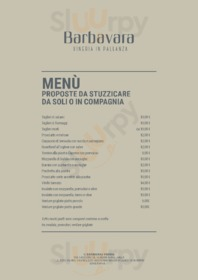 Menu IL BARBAVARA VINERIA