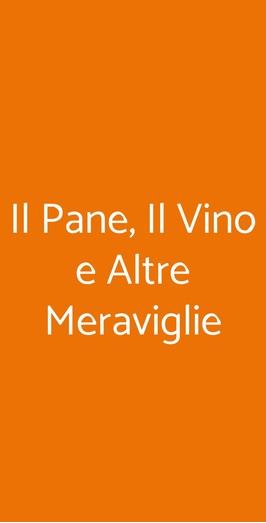 Il Pane, Il Vino E Altre Meraviglie, Torino