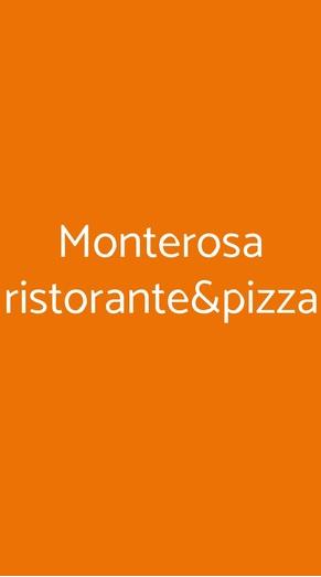 Monterosa Ristorante&pizza, Vogogna