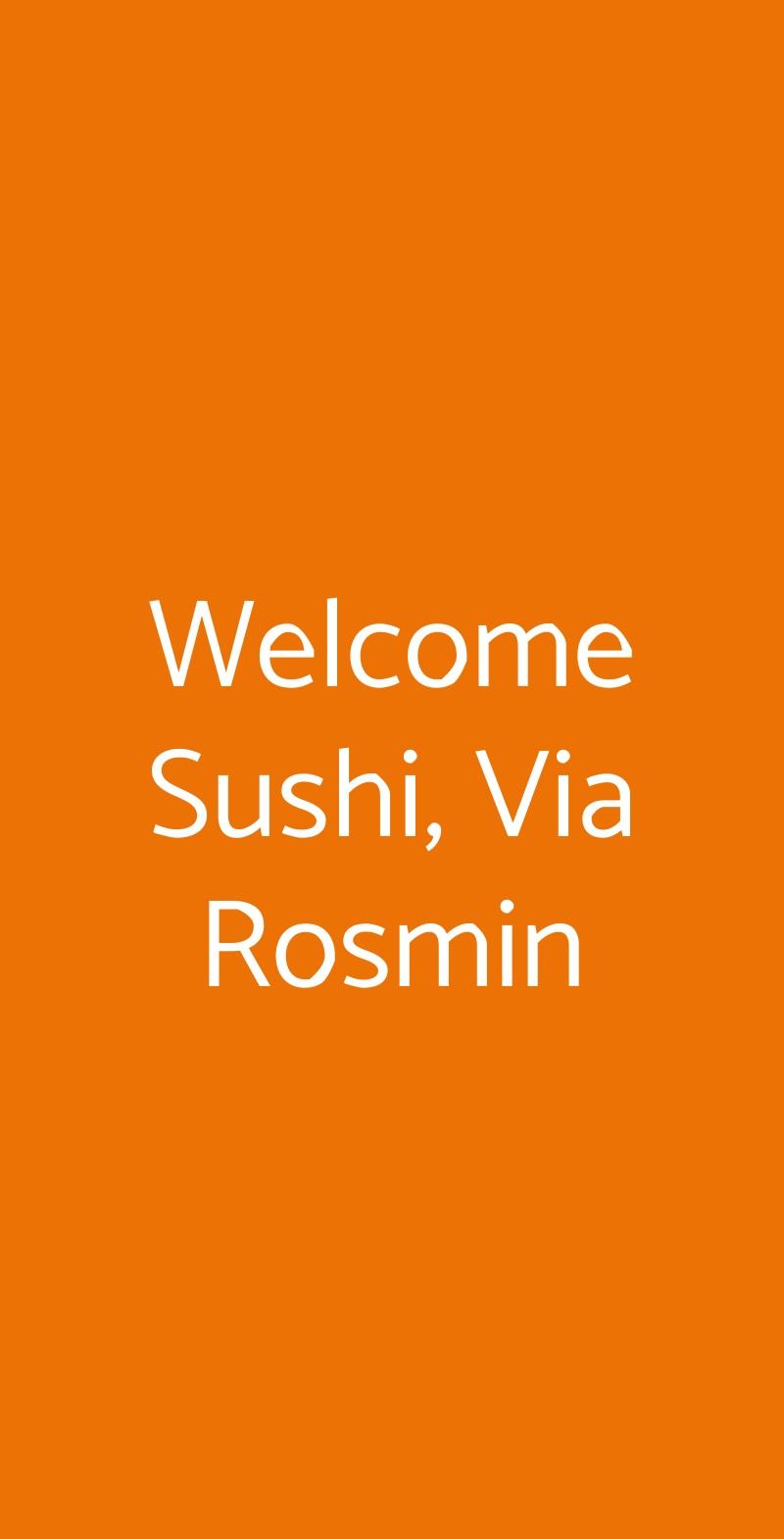 Welcome Sushi Milano menù 1 pagina