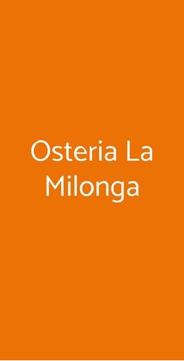Osteria La Milonga, Agliano Terme