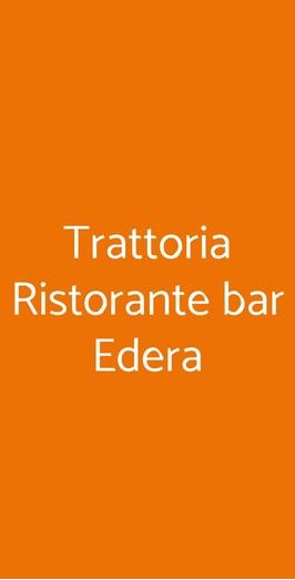 Trattoria Ristorante Bar Edera, Orta San Giulio