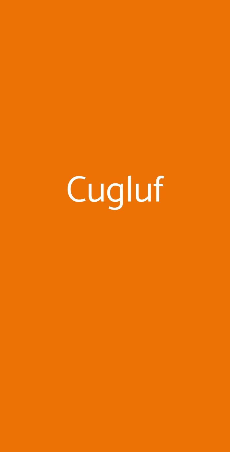Cugluf Milano menù 1 pagina