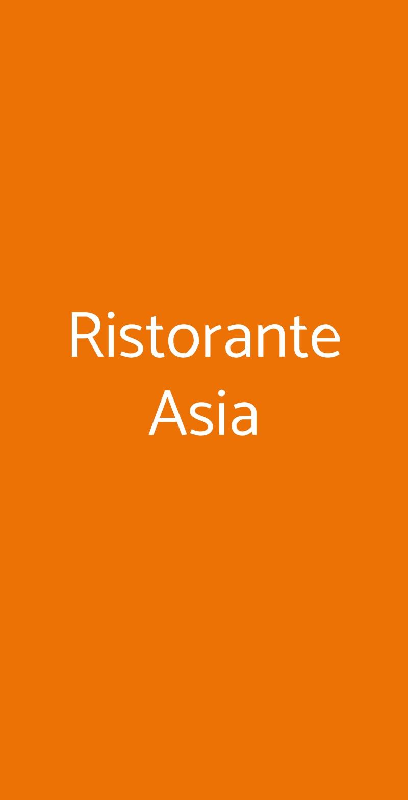Ristorante Asia Torino menù 1 pagina