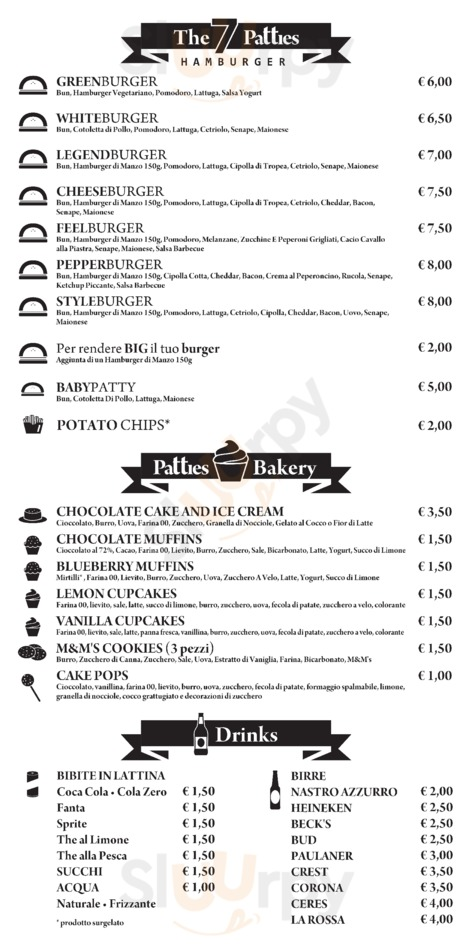 Menu Patties Hamburger Gourmet