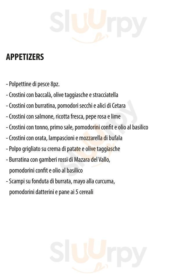 Posh Bar & Fish Restaurant Bari menù 1 pagina