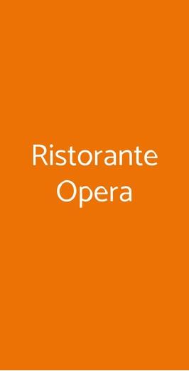 Ristorante Opera, Bari