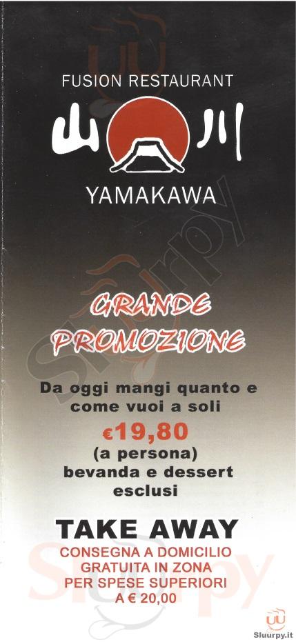Yamakawa Milano menù 1 pagina
