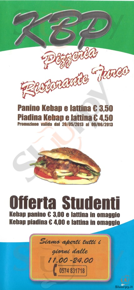 KBP Prato menù 1 pagina