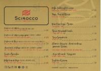 Menu Scirocco Sicilian Fish Lab