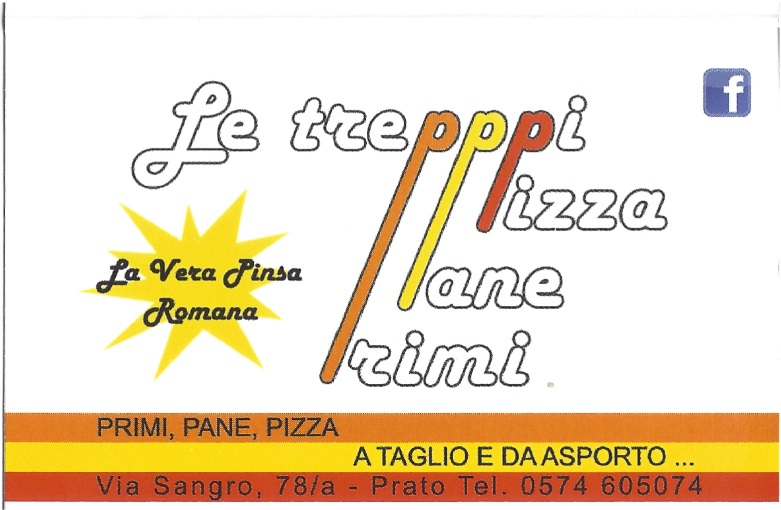 LE TREPPPI Prato menù 1 pagina