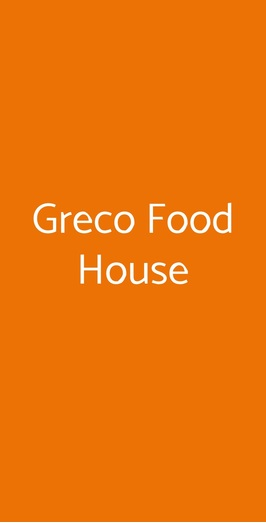 Greco Food House, Palermo