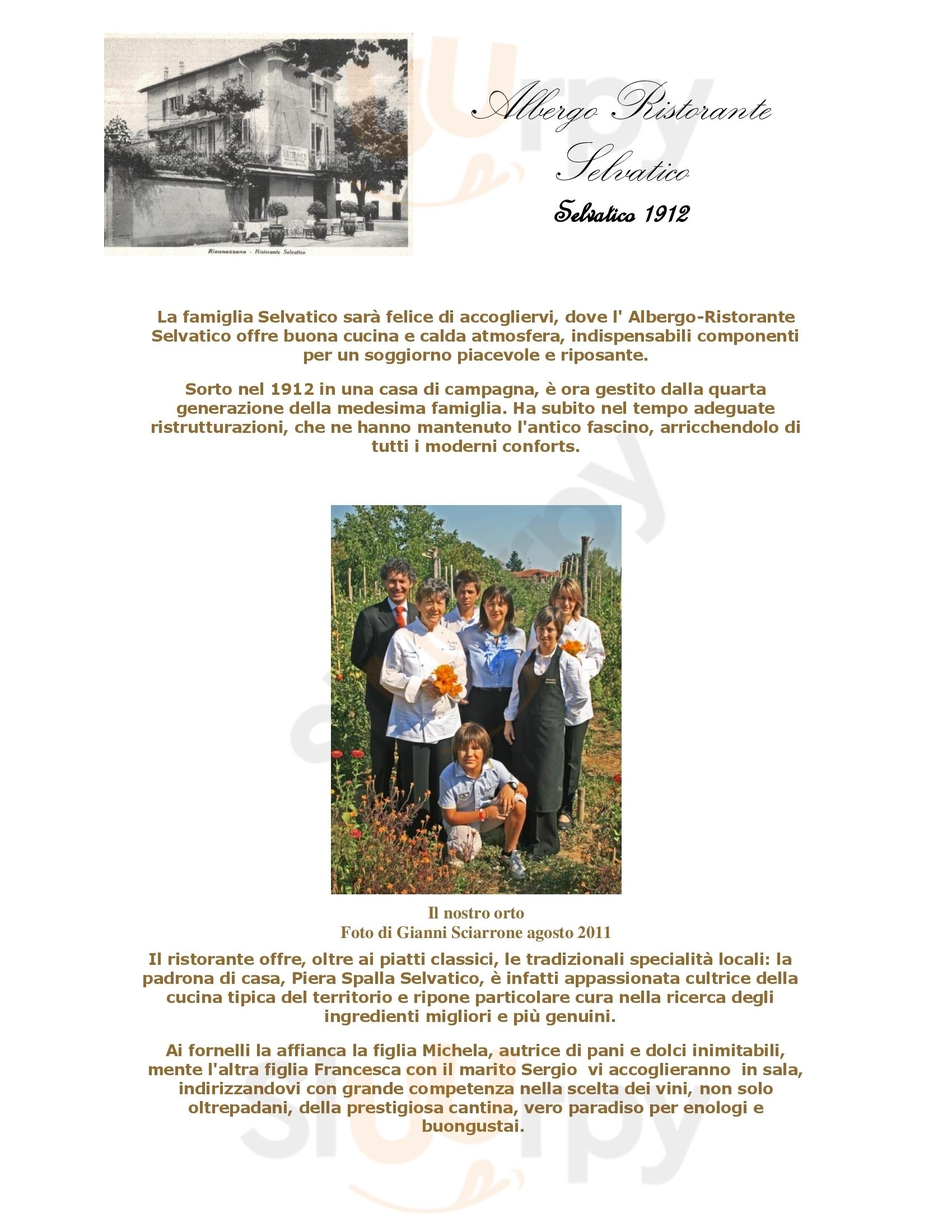 Albergo Ristorante Selvatico Rivanazzano Terme menù 1 pagina