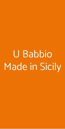 U Babbio Made In Sicily, Palermo