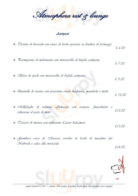 Menu Atmosphera