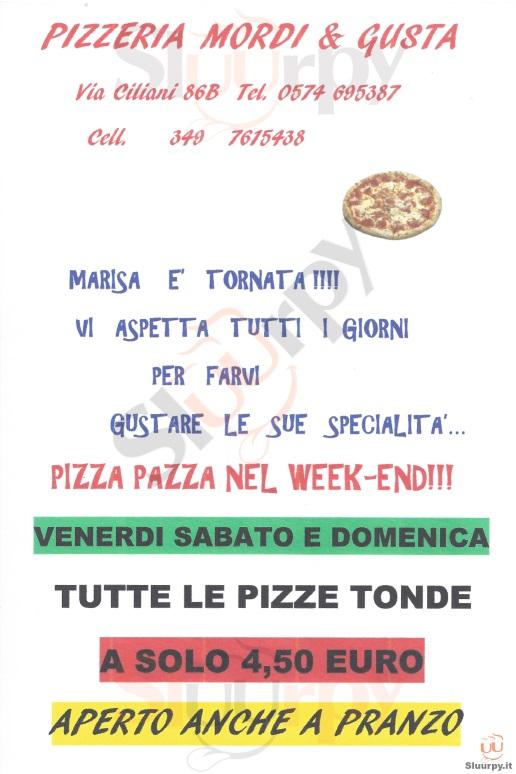 MORDI & GUSTA Prato menù 1 pagina