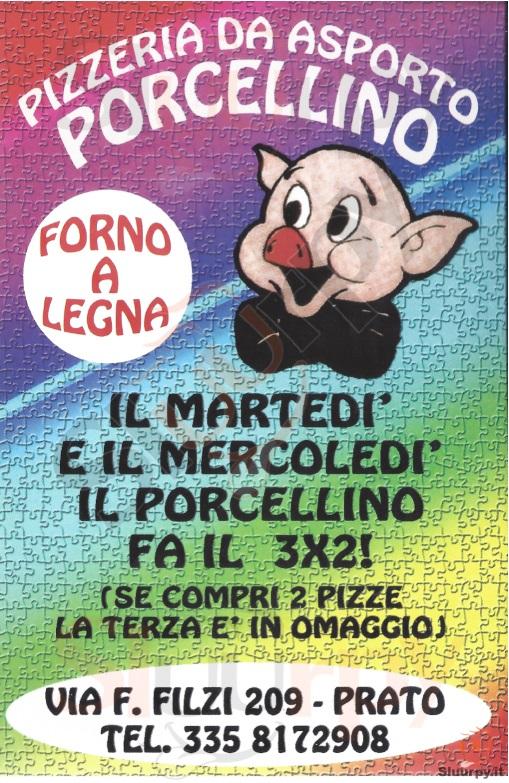 PORCELLINO Prato menù 1 pagina