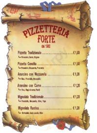 Menu Pizzeria Forte dal 1960