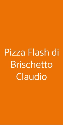 Pizza Flash Di Brischetto Claudio, Acireale