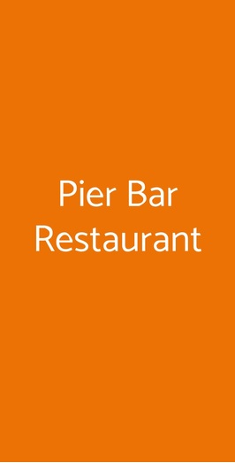 Pier Bar Restaurant, Terrasini
