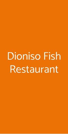 Dioniso Fish Restaurant, Ragusa