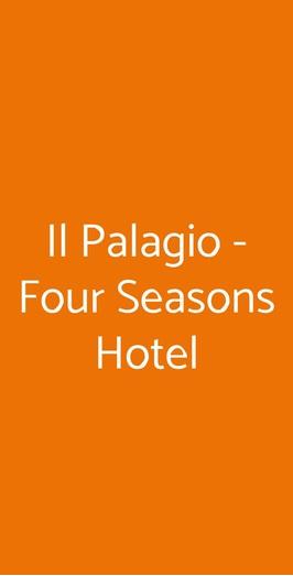 Menu Il Palagio - Four Seasons Hotel