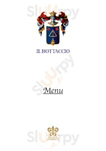 Menu Il Bottaccio Restaurant