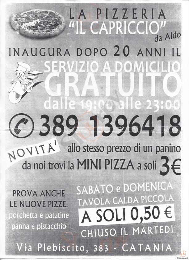 IL CAPRICCIO Catania menù 1 pagina
