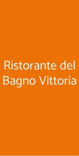 Ristorante Del Bagno Vittoria, Pisa