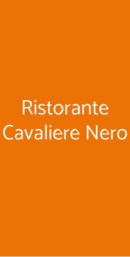 Ristorante Cavaliere Nero, Pisa