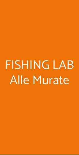 Menu FISHING LAB Alle Murate