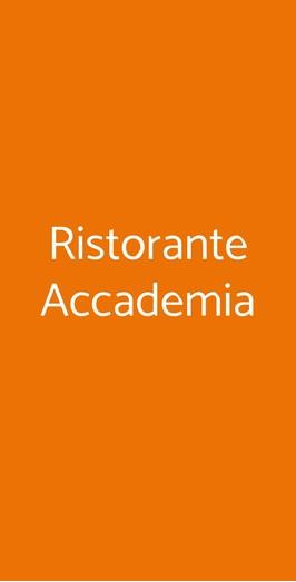 Ristorante Accademia, Firenze
