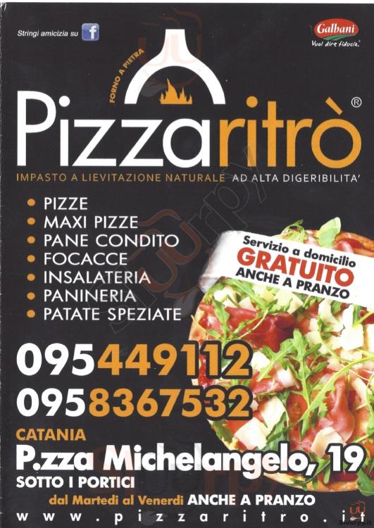 PIZZARITRO' Catania menù 1 pagina