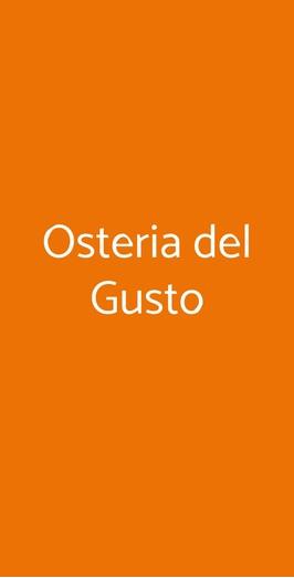 Osteria Del Gusto, Siena