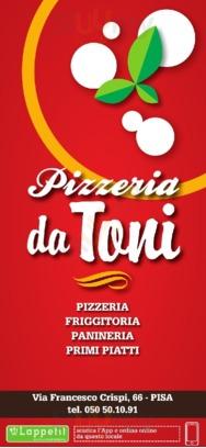 Menu Pizzeria Da Toni