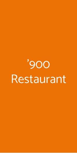 '900 Restaurant, Matera