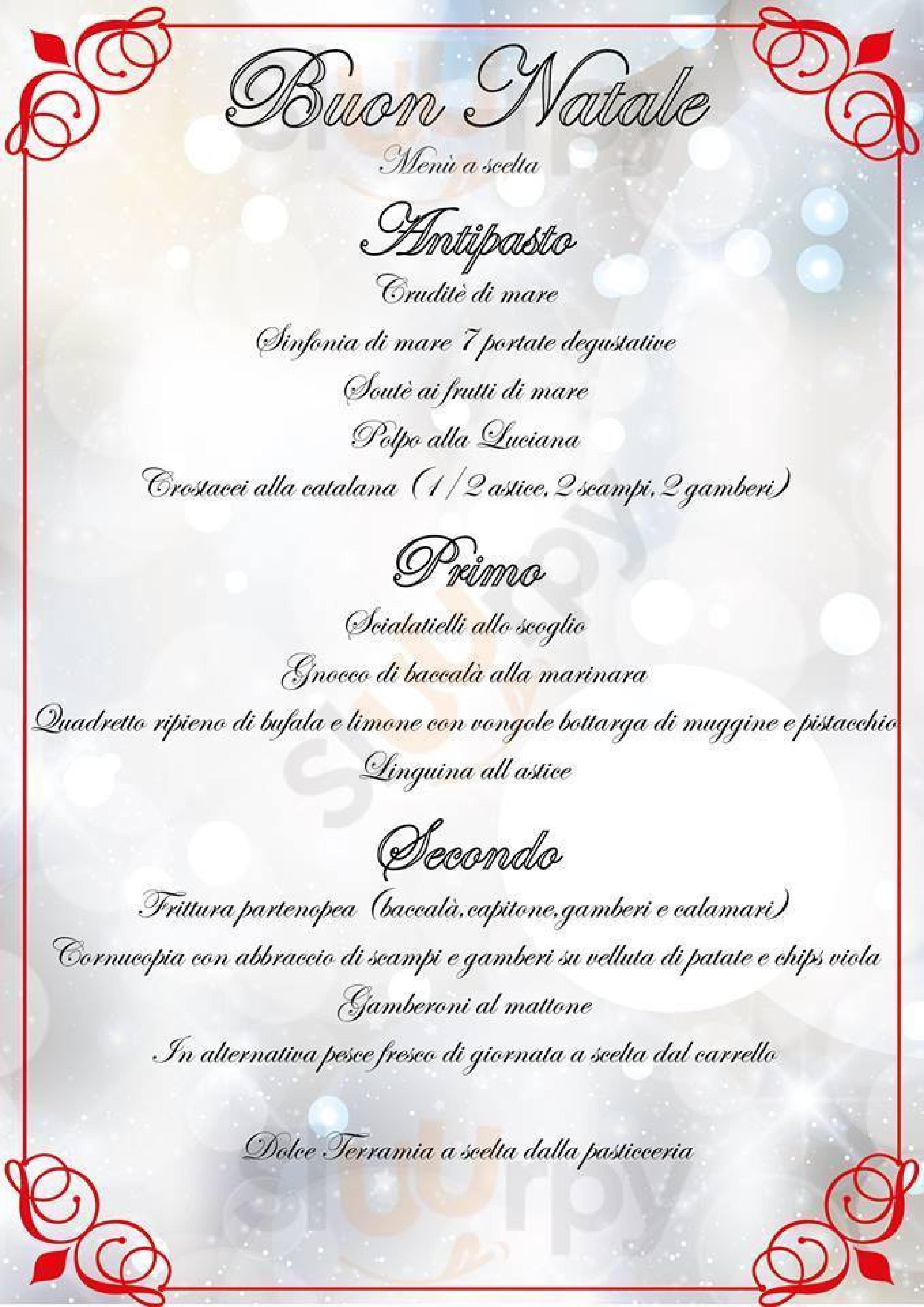 terramia ristorante mediterraneo Trento menù 1 pagina
