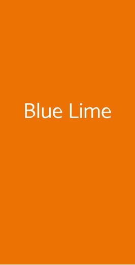 Blue Lime, Lavello
