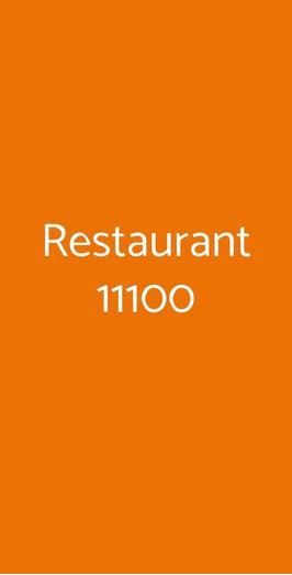 Restaurant 11100, Aosta
