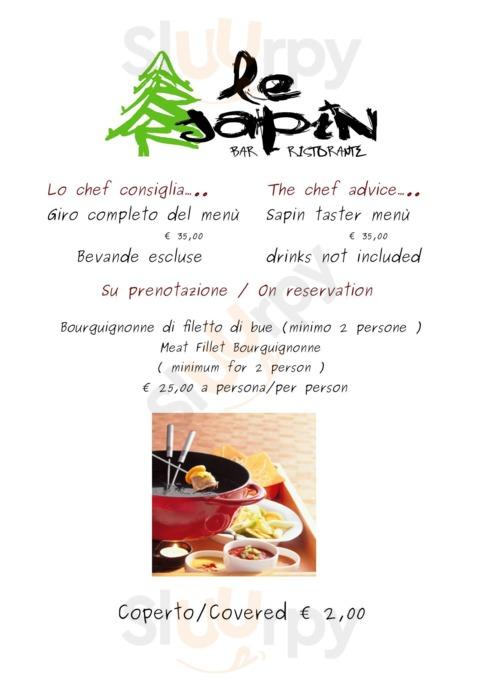 Menu Le Sapin