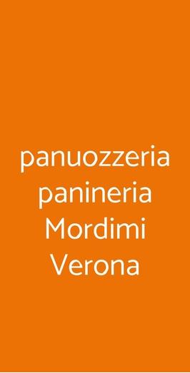 Menu panuozzeria panineria Mordimi Verona