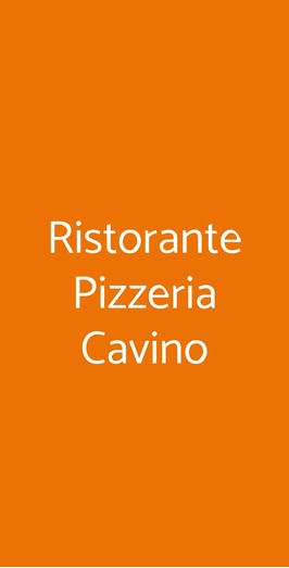 Ristorante Pizzeria Cavino, San Giorgio delle Pertiche
