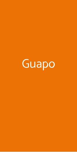 Menu Guapo